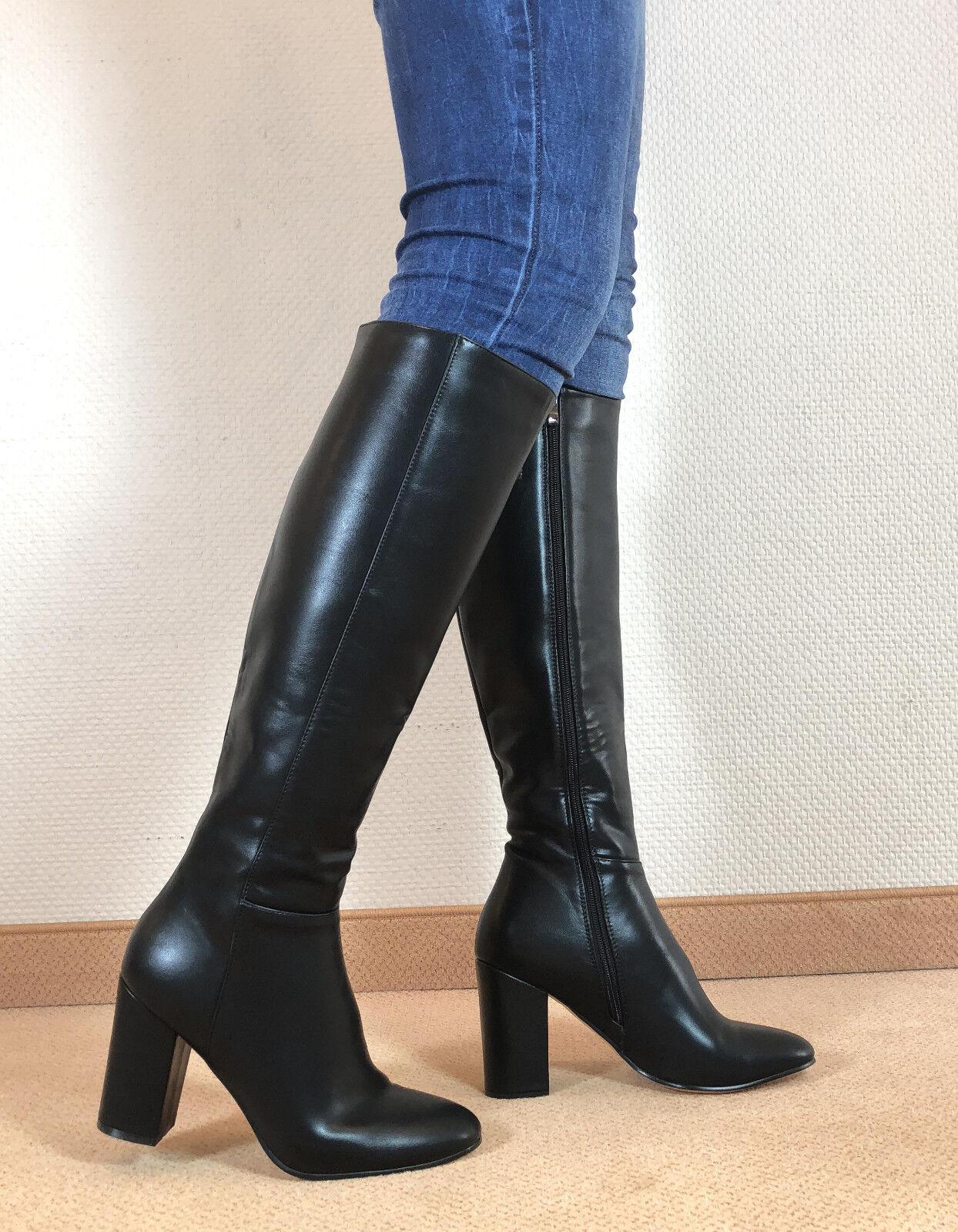 Gr.46 TOP ! Exklusiv Sexy Damen Schuhe Kniestiefel Stiefel Männer Boots E3