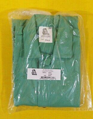 Steiner Weld Mite Welding Jacket 30 Green 12 Oz. Fr Cotton Size Small 1038-s