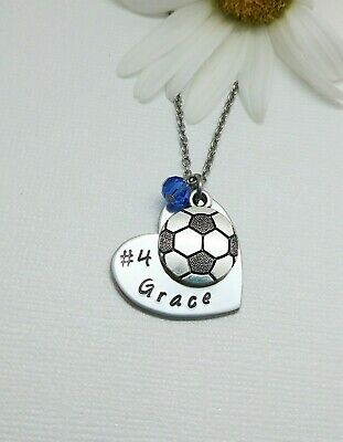 Personalized Soccer Necklace, Girls Soccer Gift, Soccer Team Gift