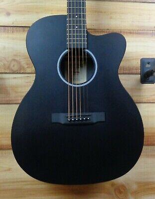 New Martin® OMCXAE Black Cutaway Acoustic Electric Guitar