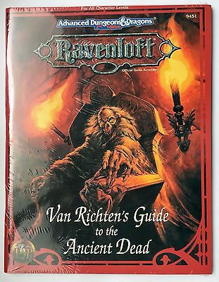 TSR 9451 VAN RICHTEN'S GUIDE TO THE ANCIENT DEAD - AD&D Ravenloft NEW SEALED!