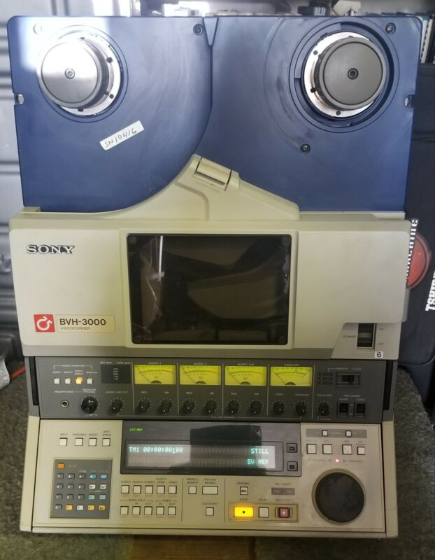 """Sony BVH-3000 1"""" NTSC Type C Video Tape Videocorder Professional Broadcasting"""