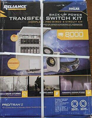 New 5 Protran 2 8000 Watt 6-circuit Generator Transfer Switch Model 306lrk