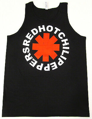 Red Hot Chili Peppers Tank Top T Shirt Rhcp Asterisk Logo Adult S Xl Black New