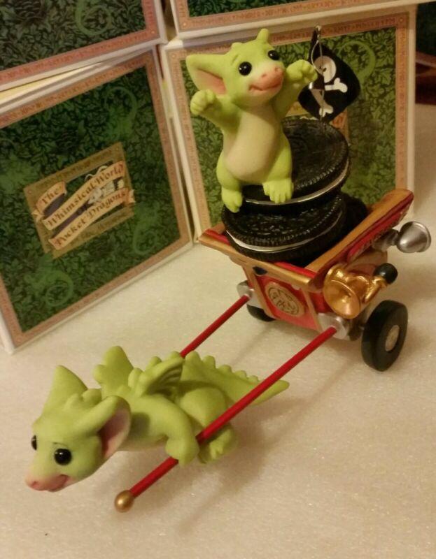 RL 💖 Pocket Dragons Dragon * Mint * ☠Go! Go! Getaway Cart☠ * 2004 *