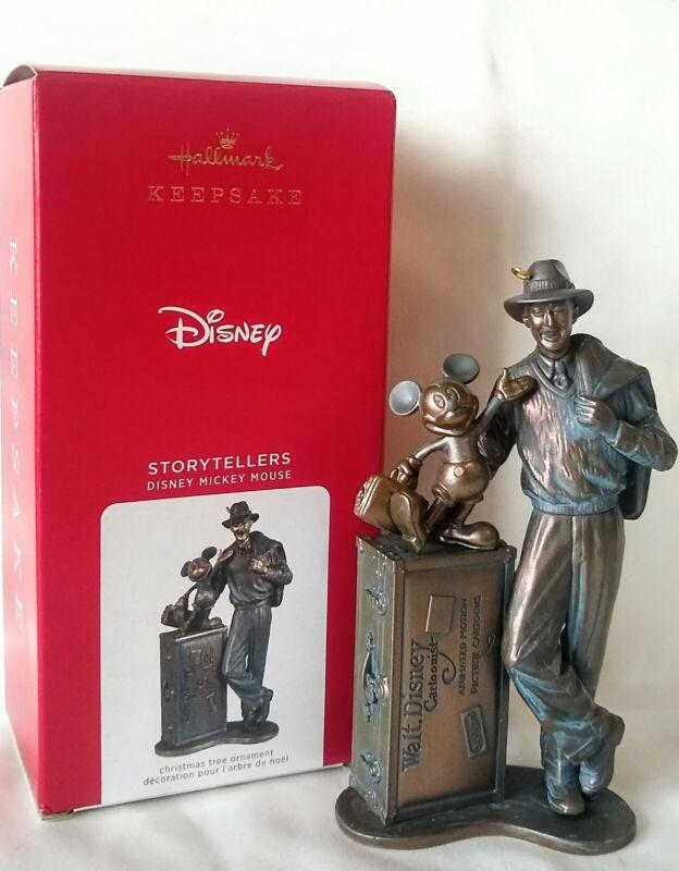 Hallmark 2021 DISNEY Mickey Mouse Storyteller Statue Ornament, Walt Disney