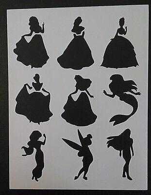 Disney Princess Ariel Belle Tinkerbell 8.5