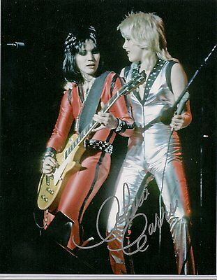 Cherie Currie Runaways signed 8x10 photo autograph Lita Ford Joan Jett