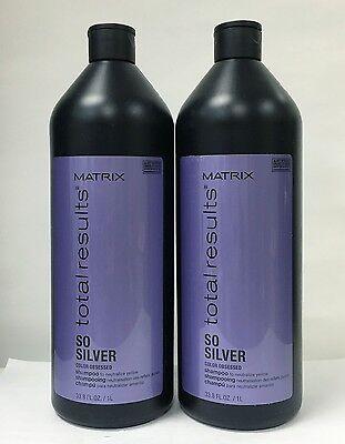 Matrix Total Results So Silver Color Care  33.8 oz 1 Liter 2 PACK