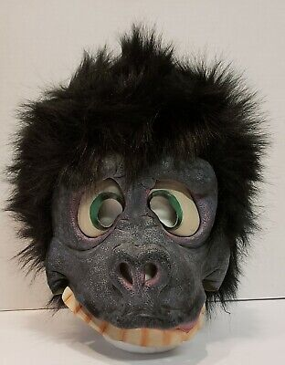 Vtg Mask Rubies Gorilla Soft Rubber Fur Halloween Happy Goofy Ape DETAILED (Happy Halloween Gorilla)