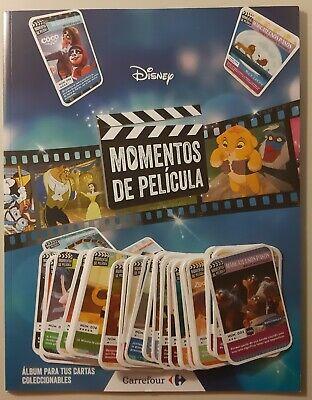 COLECCION COMPLETA DISNEY MOMENTOS DE PELICULA. ALBUM + 108 CARTAS.