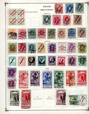 Kenr2: Spain Offices Morocco Collection from 7 Vol Scott Intern Albums