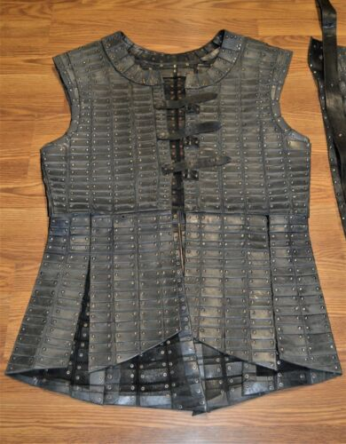 Weta Workshop Narnia Telmarine Leather Brigadine, Medieval Viking Leather Armor