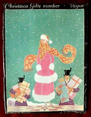 Vogue Magazine Original Cover Only ~ December 15, 1914 ~ Helen Dryden