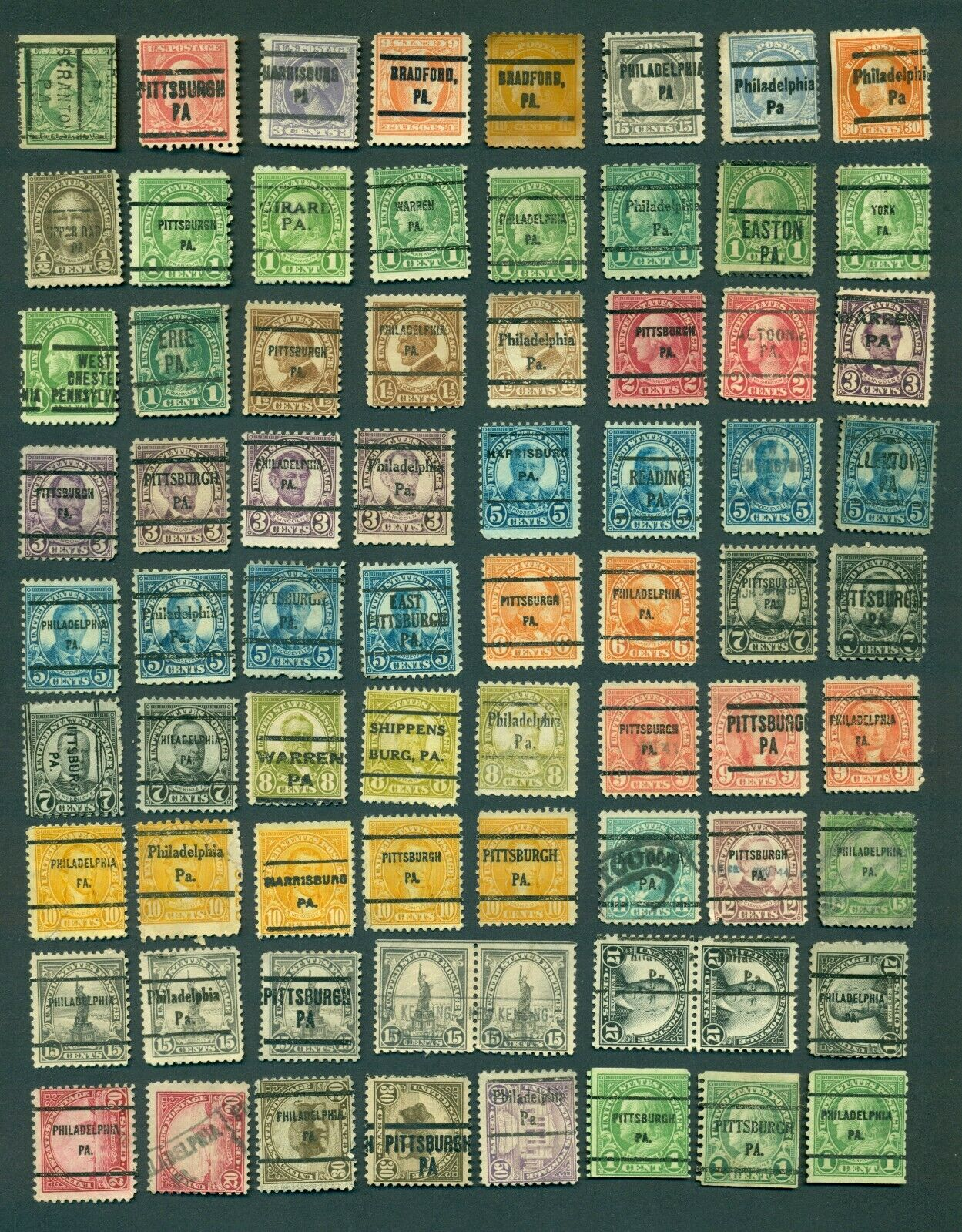 US Stamps, Collection, Large Lot, Precancels, Pennsylvania, See Scans - $6.49