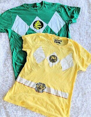 Power Ranger Couples Halloween Costumes (Power Rangers Costume Couples Green Ranger Yellow Ranger T-shirt Easy)