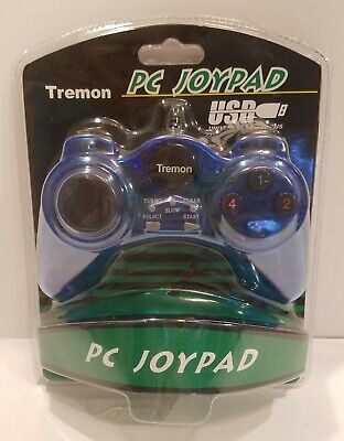 Tremon PC USB JOYPAD GAMEPAD GAME CONTROLLER JOYSTICK BLUE New in Retail Package