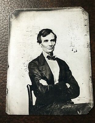 Abraham Lincoln President Civil War Military Tintype C137rp