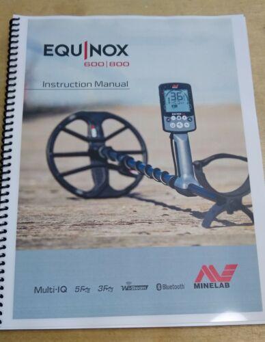 "Minelab Equinox 600/800 Metal Detector - Color Manual 8 ½"" x 11"""