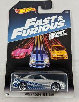 New Hot Wheels 2017 Release Fast & Furious NISSAN SKYLINE GT-R (R34) 2/8 Walmart