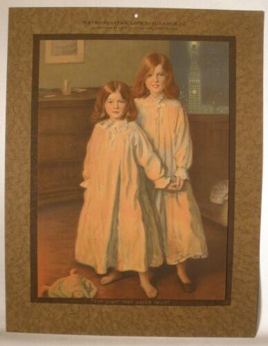 Metropolitan Life Insurance Co. Vintage Calendar Back