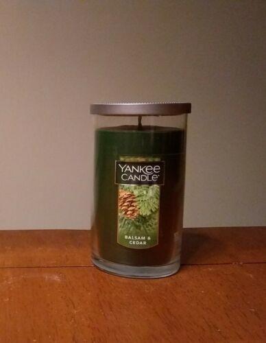 New Yankee Candle Balsam & Cedar 12 oz Medium Perfect Pillar