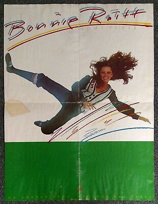Bonnie Raitt Home Plate 1975 PROMO POSTER Warner Brothers
