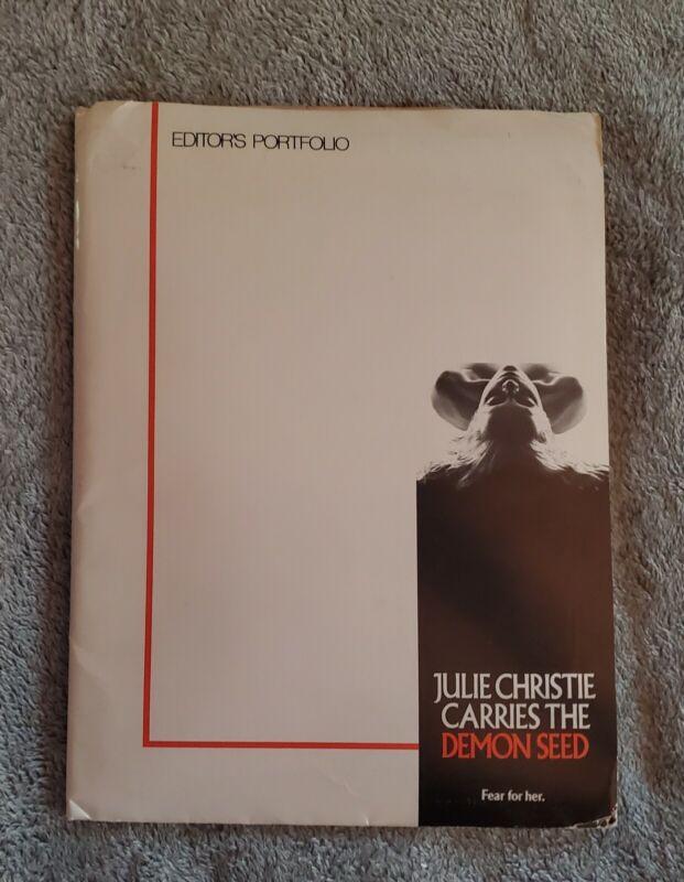 "1977 ""DEMON SEED"" Julie Christie Horror MOVIE PRESS KIT With 12 Photos In FOLDER"
