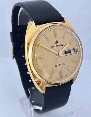 Vintage 1970s Gold-Plated Junghans Quartz Gents Watch