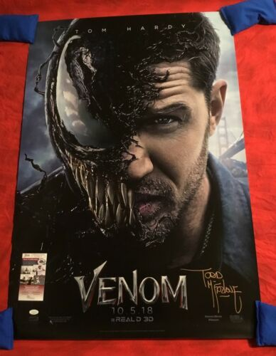 VENOM AUTHENTIC STUDIO 27x40 TEASER #2 MOVIE POSTER~SIGNED BY TODD McFARLANE+JSA