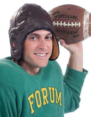Forum Novelties Vintage Retro Football Player Brown Helmet Costume Accessory