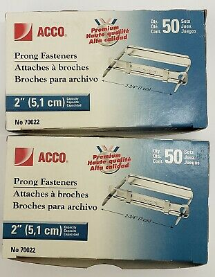 Acco Premium Two-piece Paper File Fasteners 2 Cap. 2 34 2 Packs