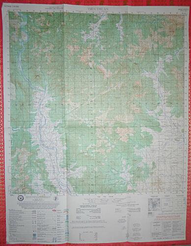 6737 ii - MAP - TIEN THUAN - Last Vietnam War Print Run - April 1975 - RVNAF