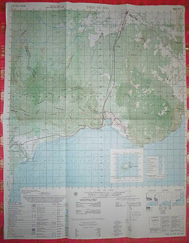 6731 i - MAP - THON VU BON - US ARMY - December 1966 - Vietnam War - Poulo Cecir