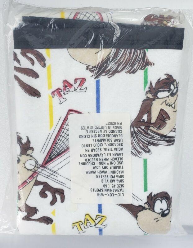 TAZ TASMANIAN DEVIL LOONEY TUNES Blanket RARE 1994 VINTAGE sealed NEW