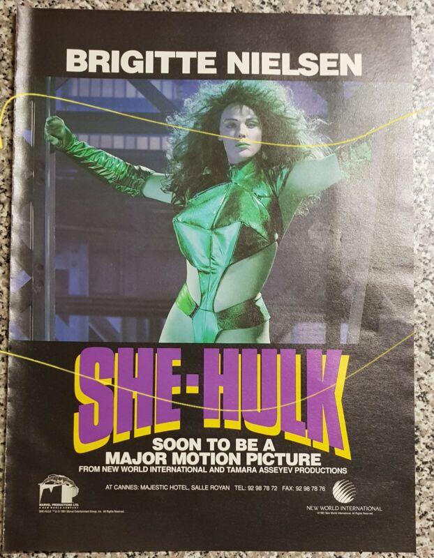 Brigitte Nielsen, She-Hulk, 1991 Marvel advert for unmade movie