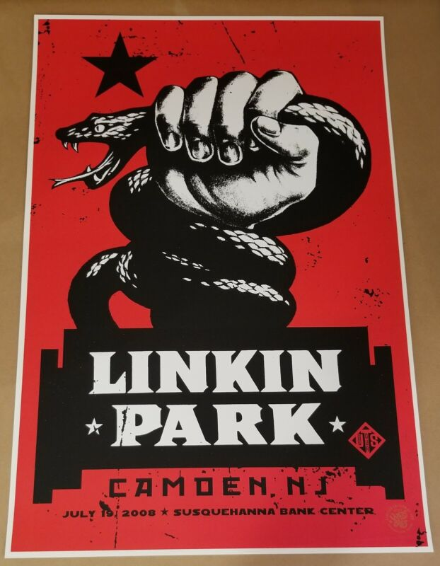 Linkin Park Poster Camden 2008 Signed and Numbered By Artist Ames Bros