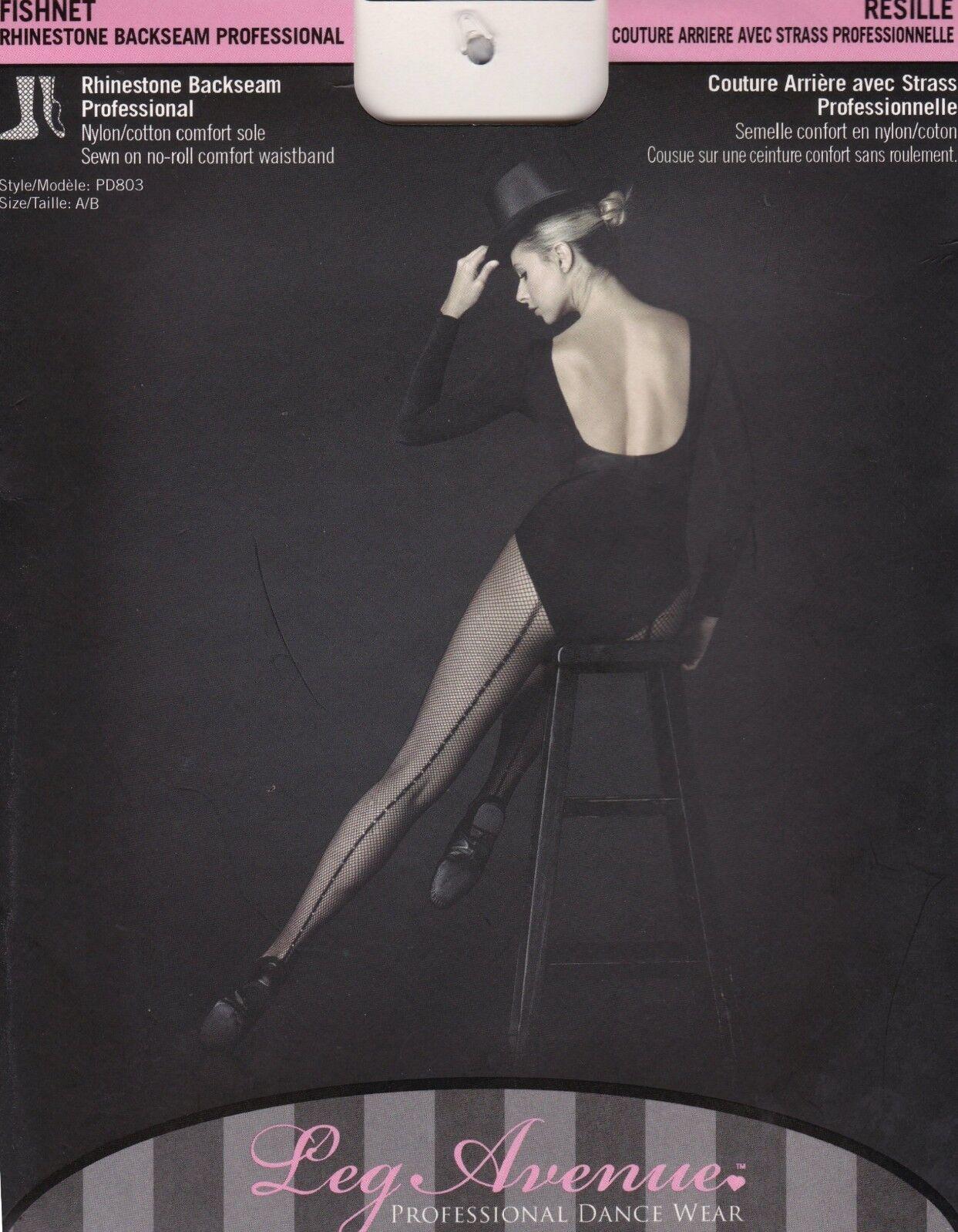 IAL PD803 Leg Avenue Netz Strumpfhose Professionelle Tanzkleidung  mit Strass