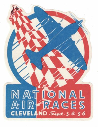 1937 Vintage National Air Races Label Cleveland