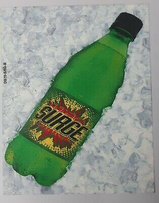 Coca-cola Vending Machine Surge 20oz. Bottle Label Insert