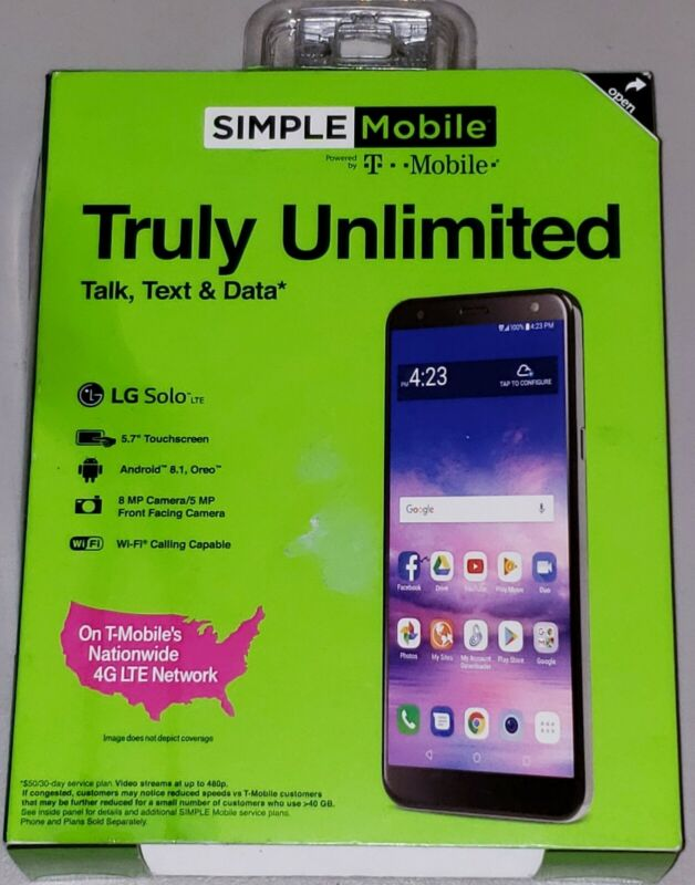 Simple Mobile - Truly Unlimited LG Solo [NEW] 16GB