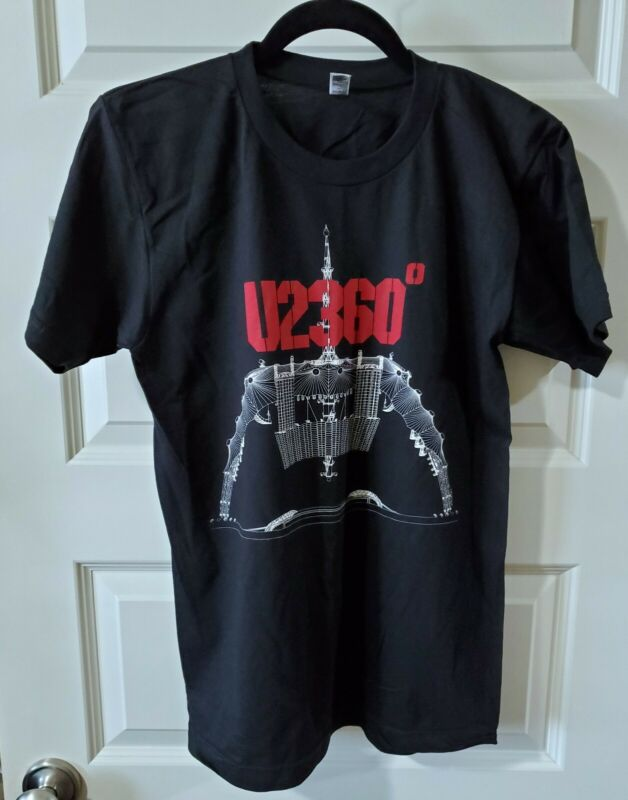 U2 360 2011 T Shirt Size Small Double Sided Concert Tour Dates Black