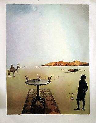 Ölbilder Ölgemälde Gemälde Sun Table von Salvador Dalí 60cm x 80cm.