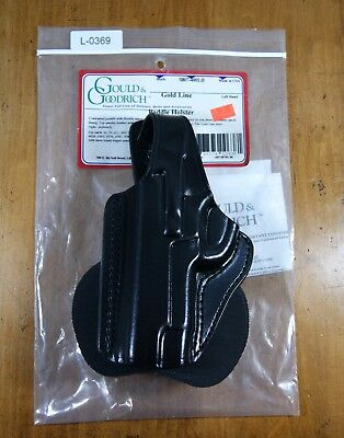 Gould Goodrich Usa Left Black Leather Paddle Holster Smith Wesson New L-0369