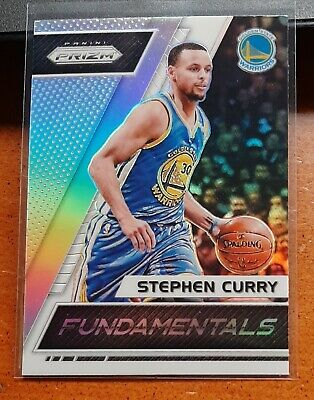 2017-18 Stephen Curry Panini Prizm Fundamentals Silver Parallel SP Warriors MVP