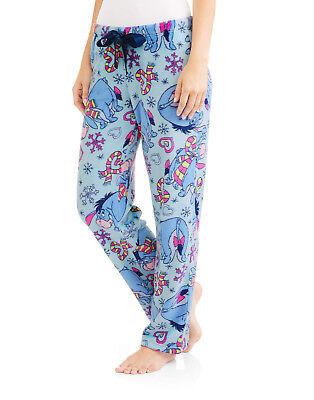 Eeyore Christmas Fleece Lounge Sleep Pants Adult S-3X Pajama Bottom