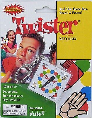 TWISTER Game Keychain Keyring Miniature Game Basic Fun NEW