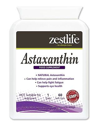 - Zestlife Astaxanthin 4mg Natural 60 Soft Gels for healthy heart & immune system