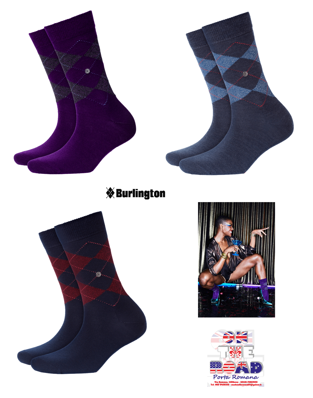 BURLINGTON SOCKS LUREX MARYLEBONE 22182 CALZINO CORTO DONNA 36/41 CALZE ROMBI