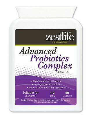 Zestlife Advanced Probiotics Complex 60 capsules for immune & digestive system